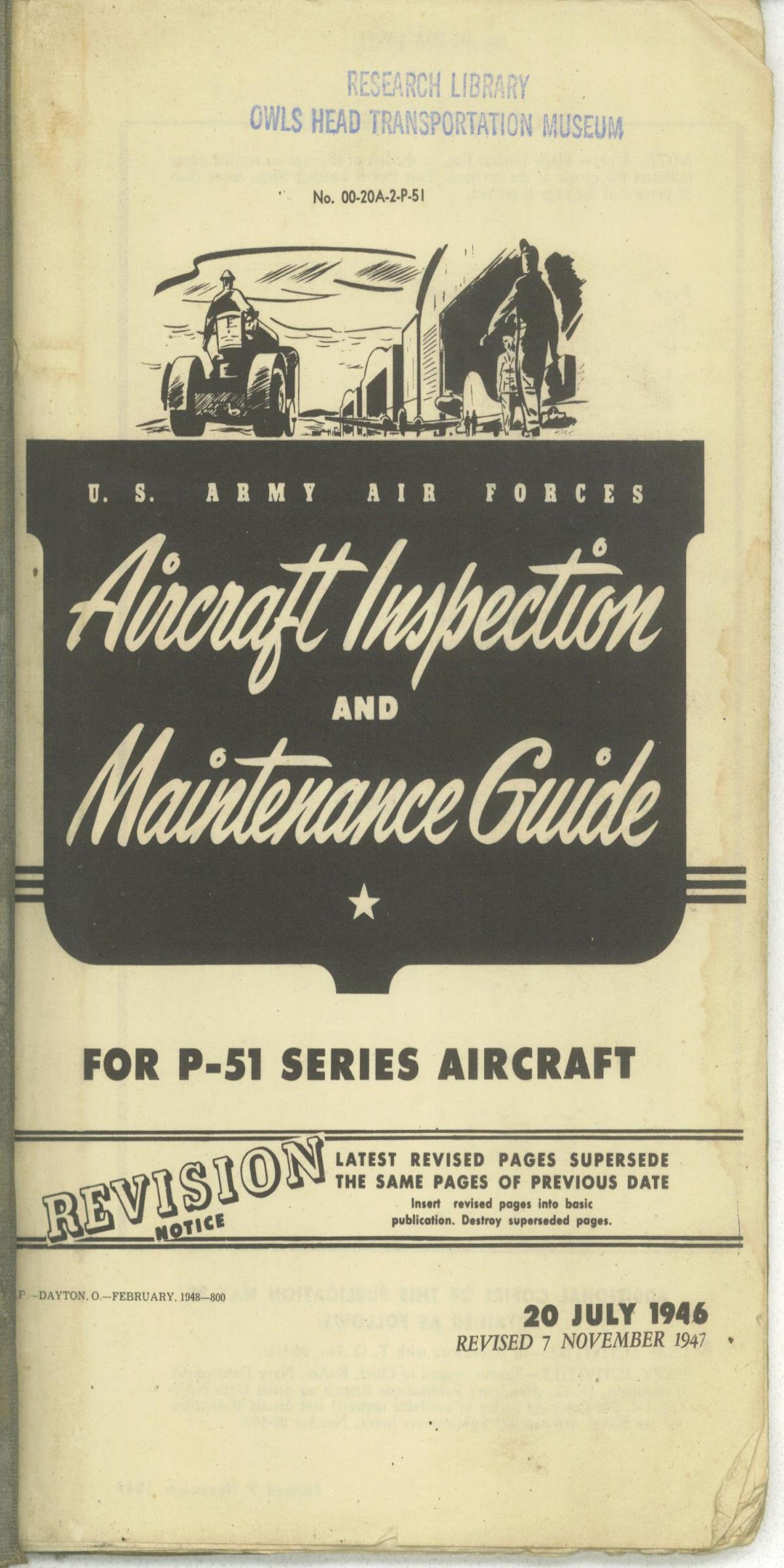 Sample page 1 from AirCorps Library document: Aircraft Inspection & Maintenance Guide - P-51