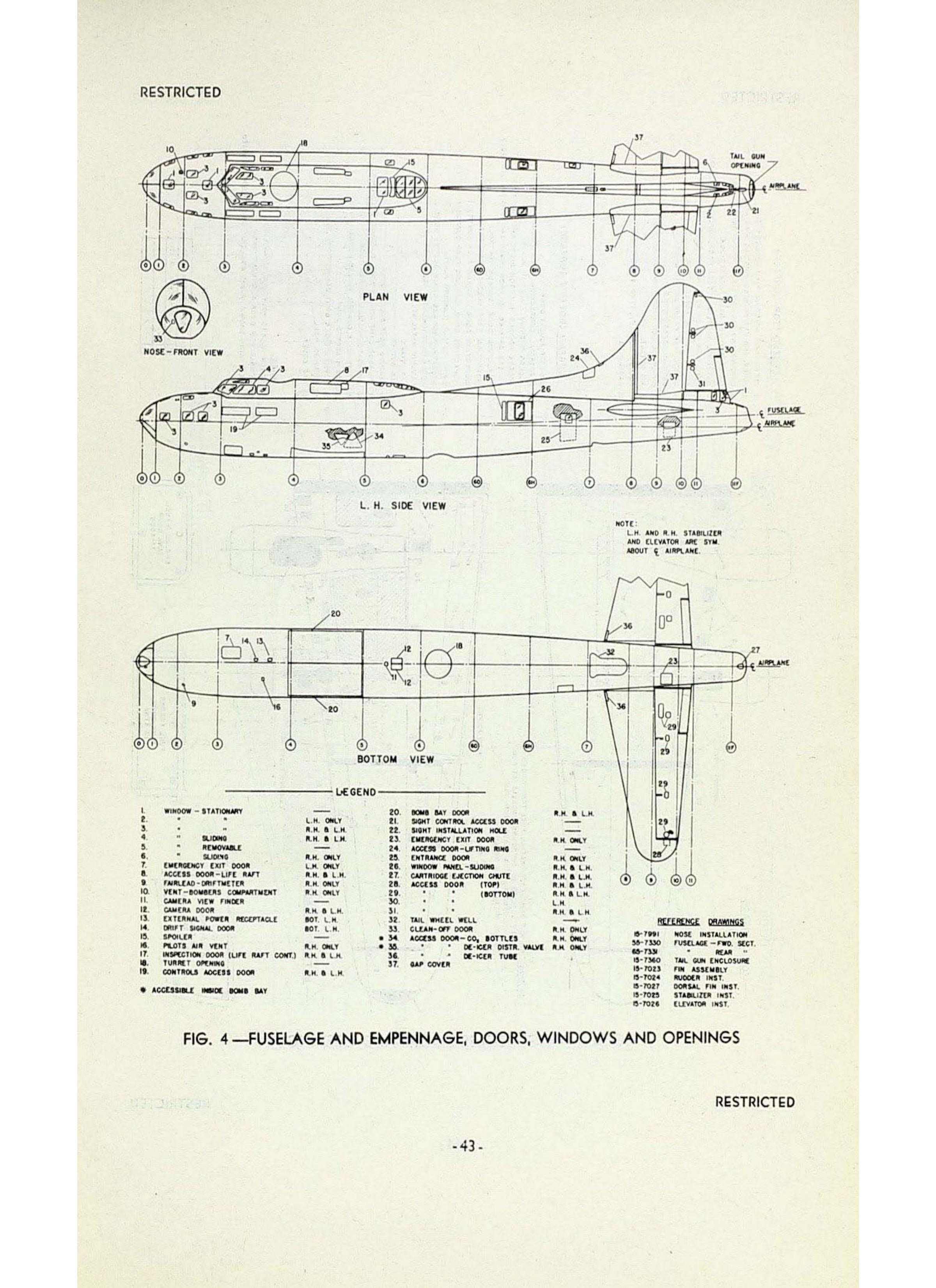 Sample page  43 from AirCorps Library document: Boeing B-17F Maintenance Familiarization Manual