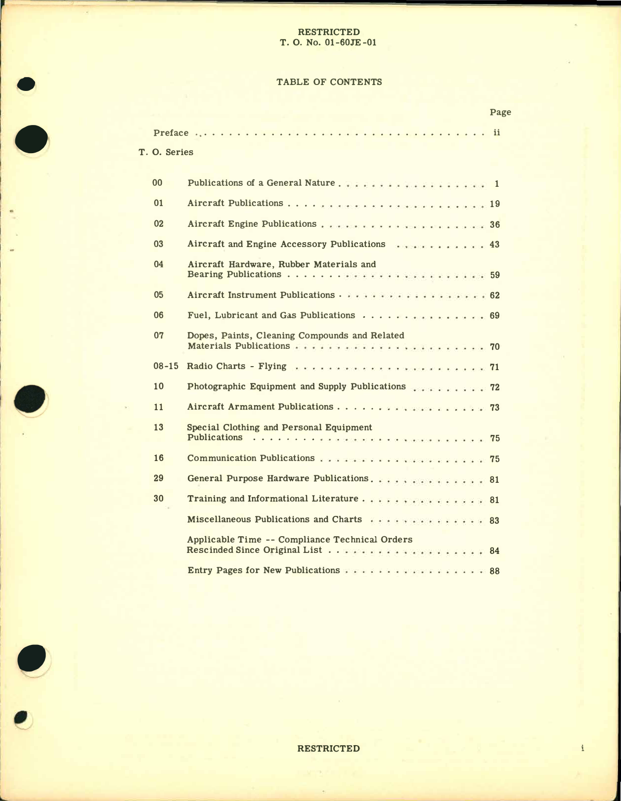 Sample page 3 from AirCorps Library document: F-51D Aircraft and Equipment - List of Applicable Publications