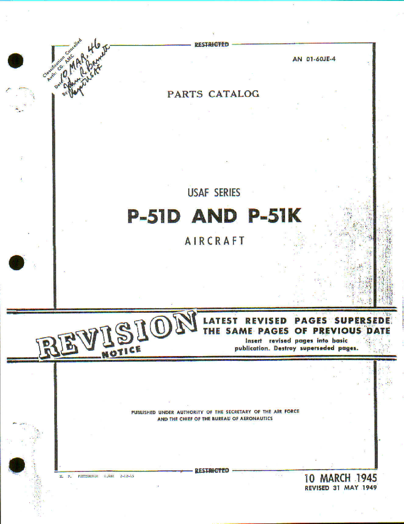 Sample page 1 from AirCorps Library document: Parts Catalog for P-51D and P-51K Aircraft