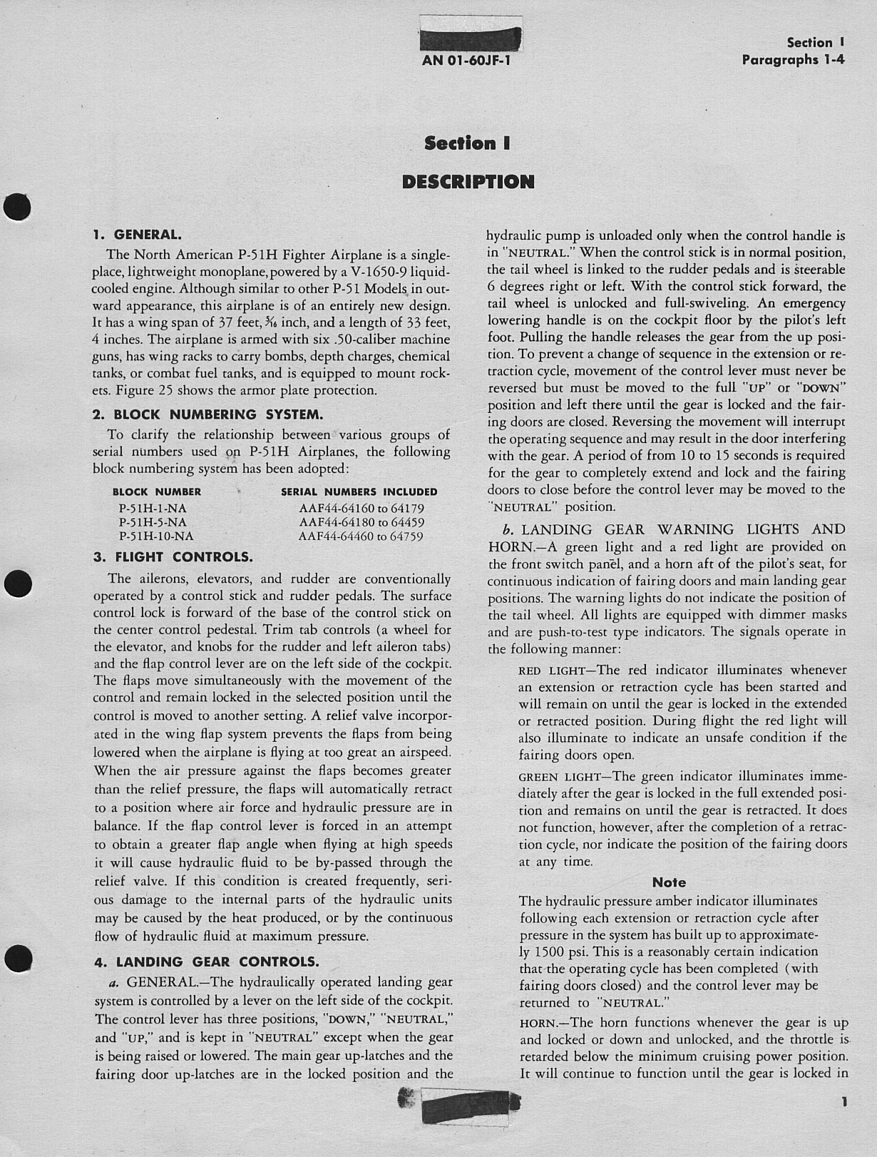 Sample page 5 from AirCorps Library document: Pilot's Handbook for P-51H-1, -5, and -10 Airplanes