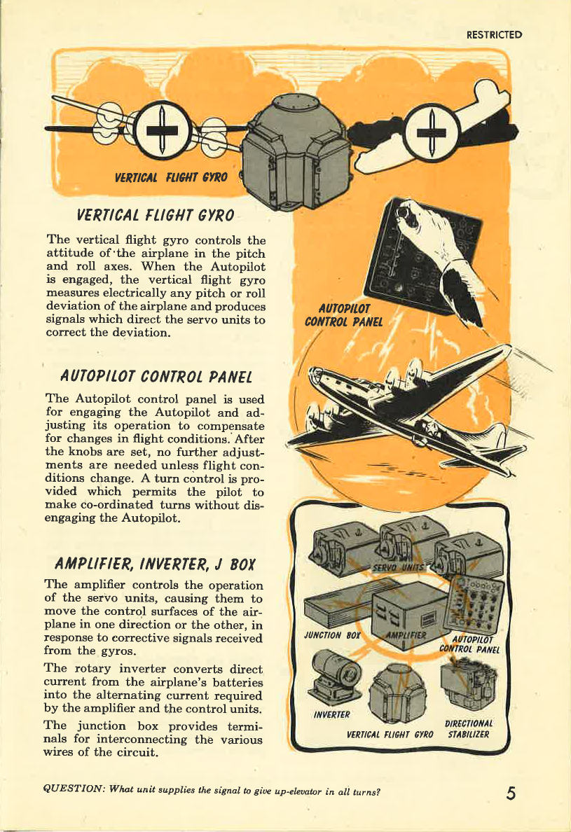 Sample page 7 from AirCorps Library document: Operation of the C-1 Autopilot