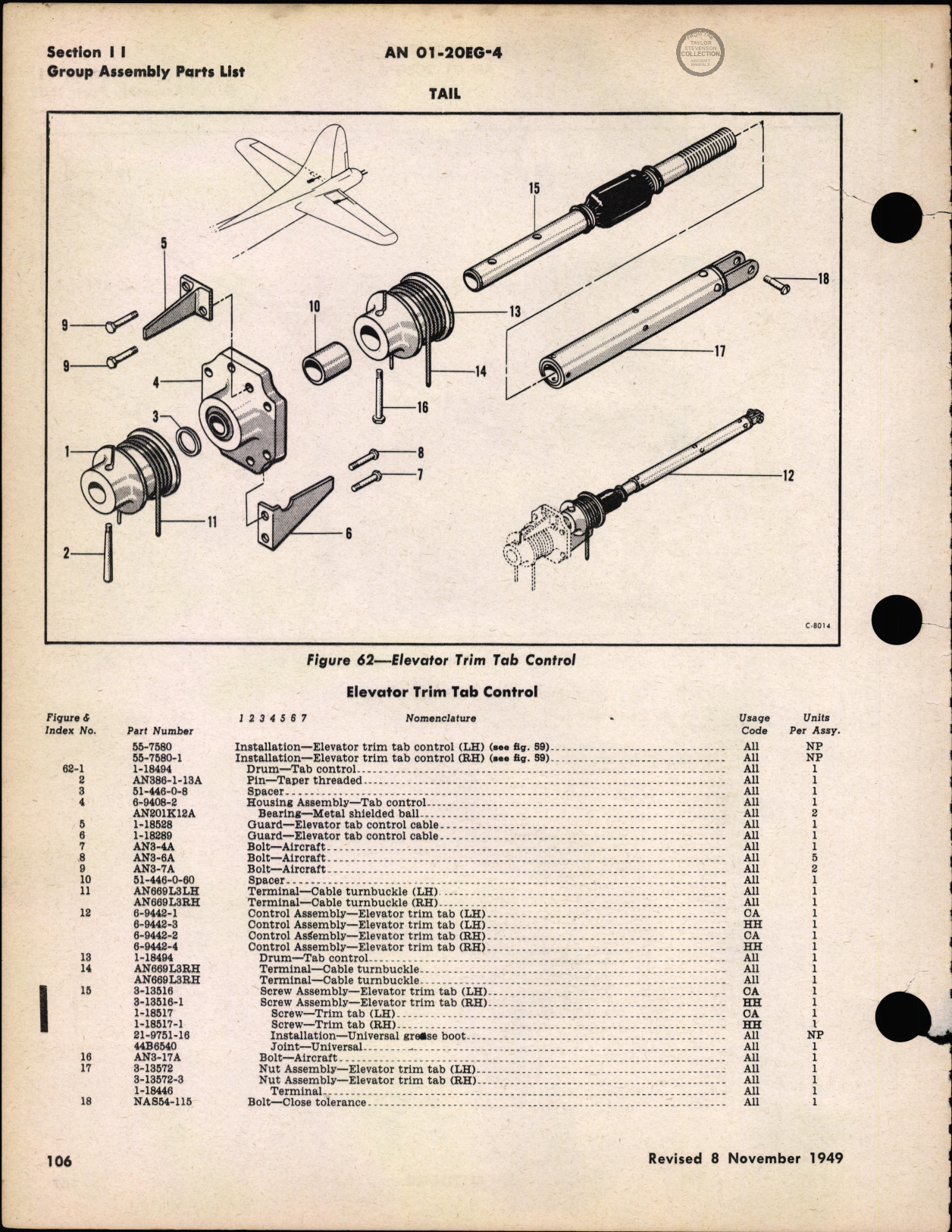 Sample page 110 from AirCorps Library document: Parts Catalog - B-17