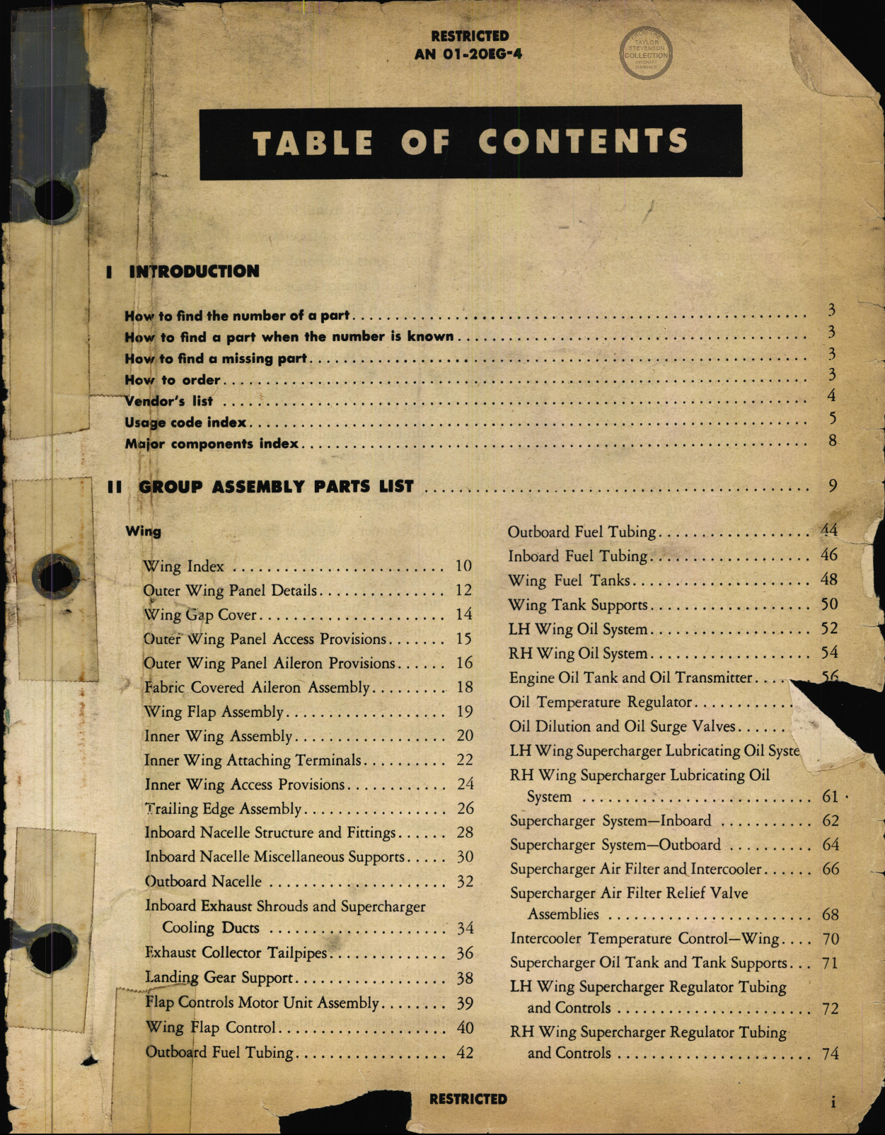 Sample page 1 from AirCorps Library document: Parts Catalog - B-17