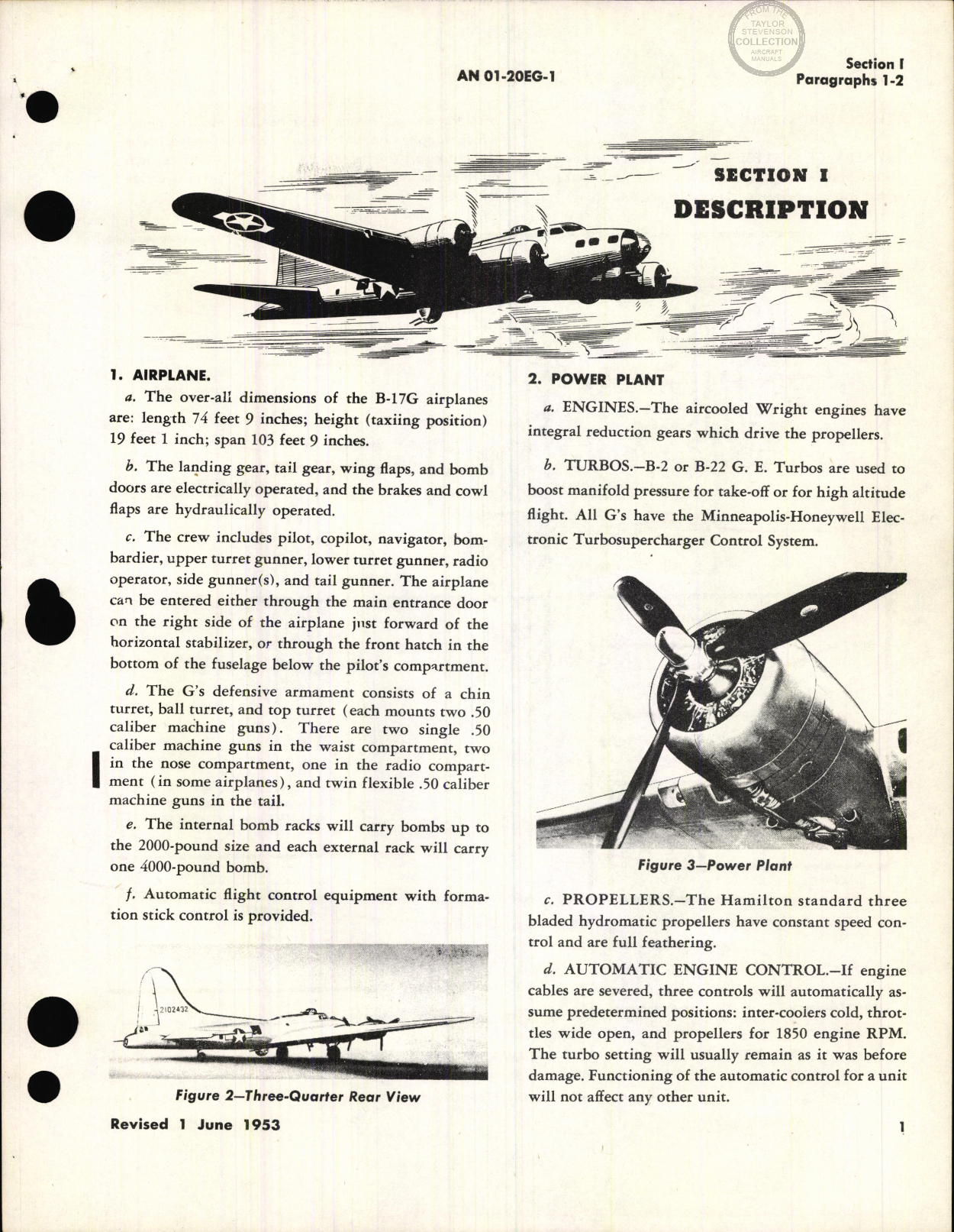 Sample page 7 from AirCorps Library document: Flight Handbook for B-17G, PB-1E Aircraft