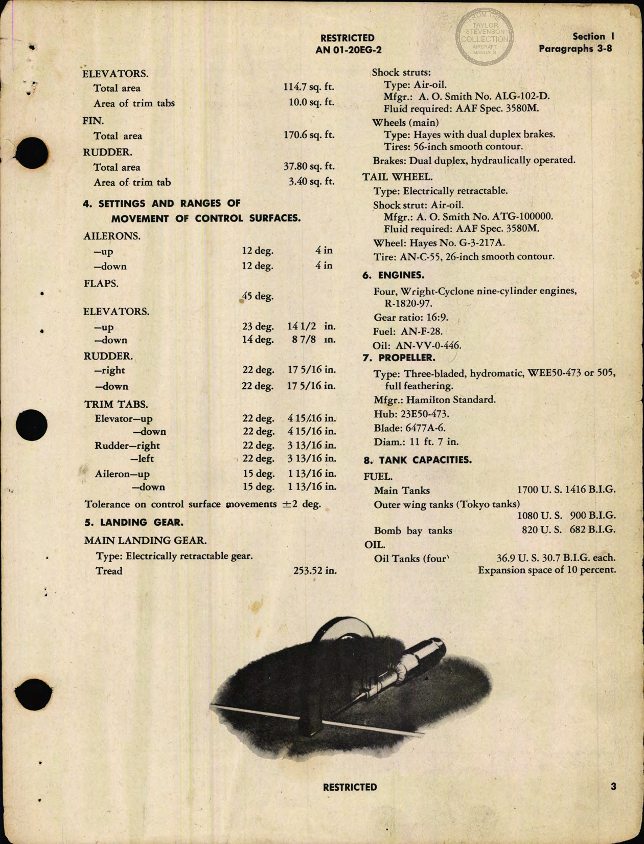 Sample page 5 from AirCorps Library document: Erection and Maintenance Instructions for B-17G (Fortress III) Airplanes