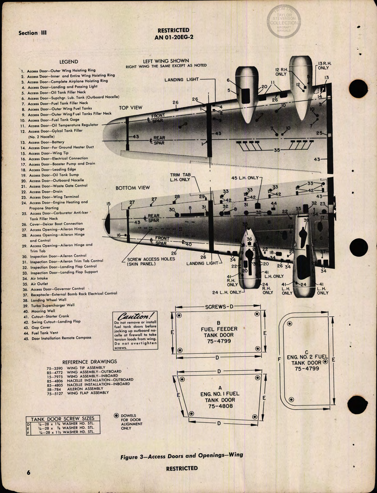 Sample page 8 from AirCorps Library document: Erection and Maintenance Instructions for B-17G (Fortress III) Airplanes