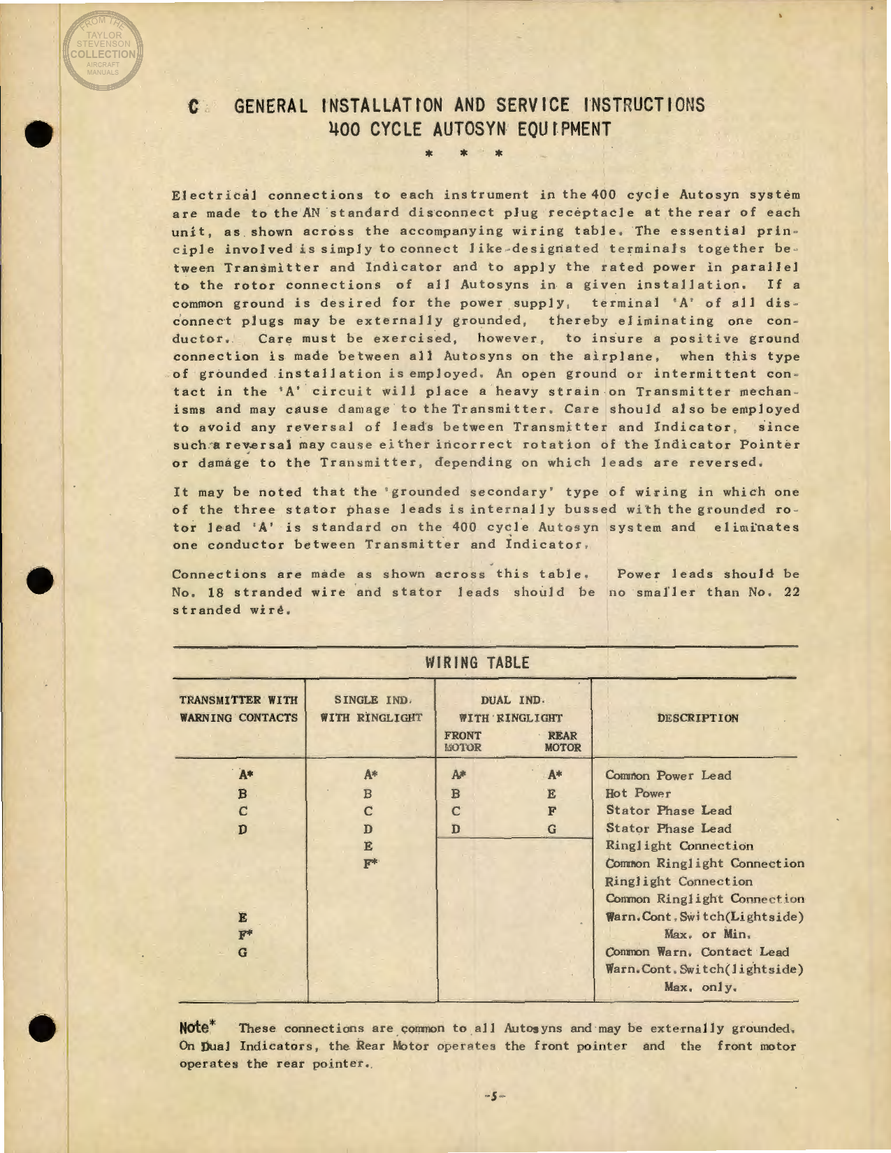 Sample page 5 from AirCorps Library document: Engine and Aeronautical Instruments for the B-17