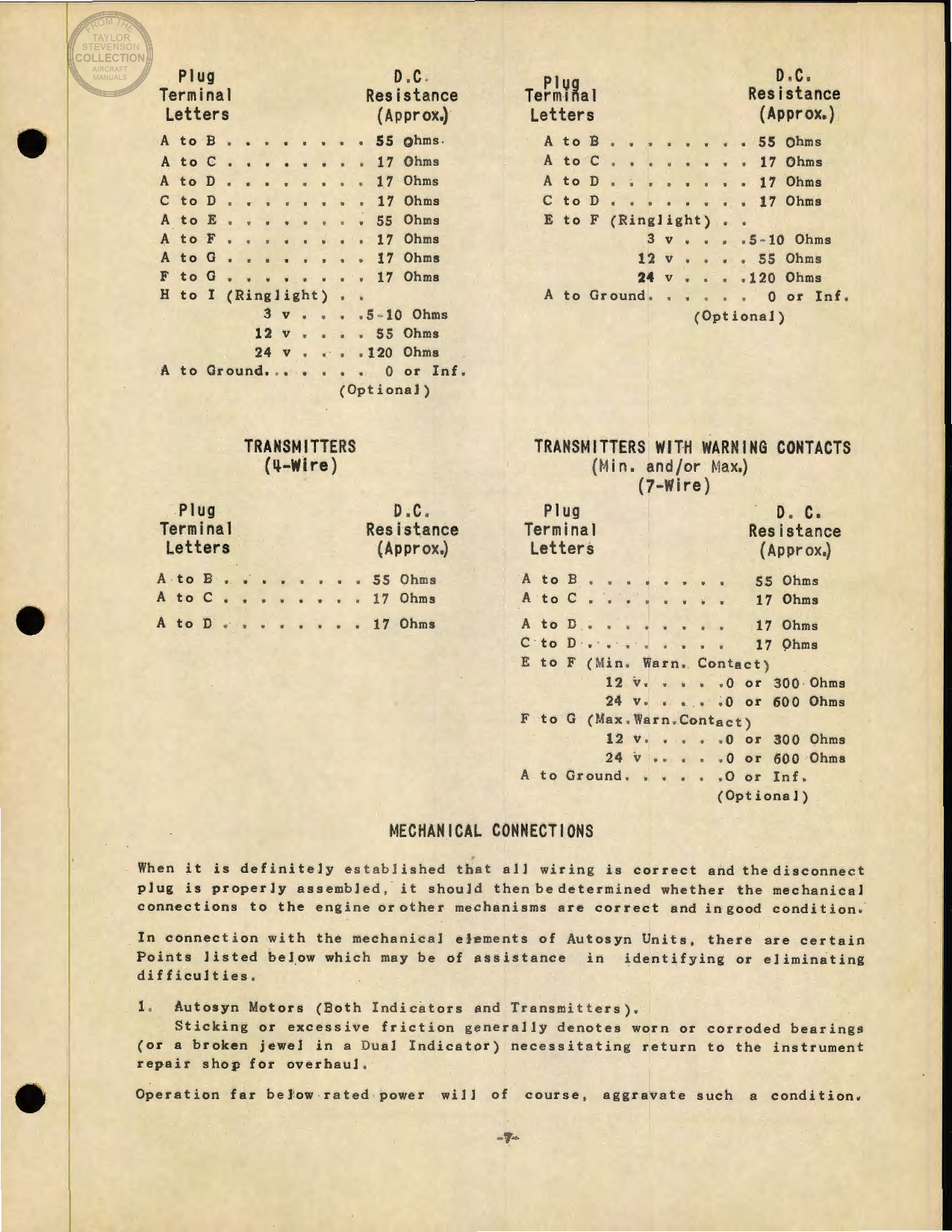 Sample page 7 from AirCorps Library document: Engine and Aeronautical Instruments for the B-17