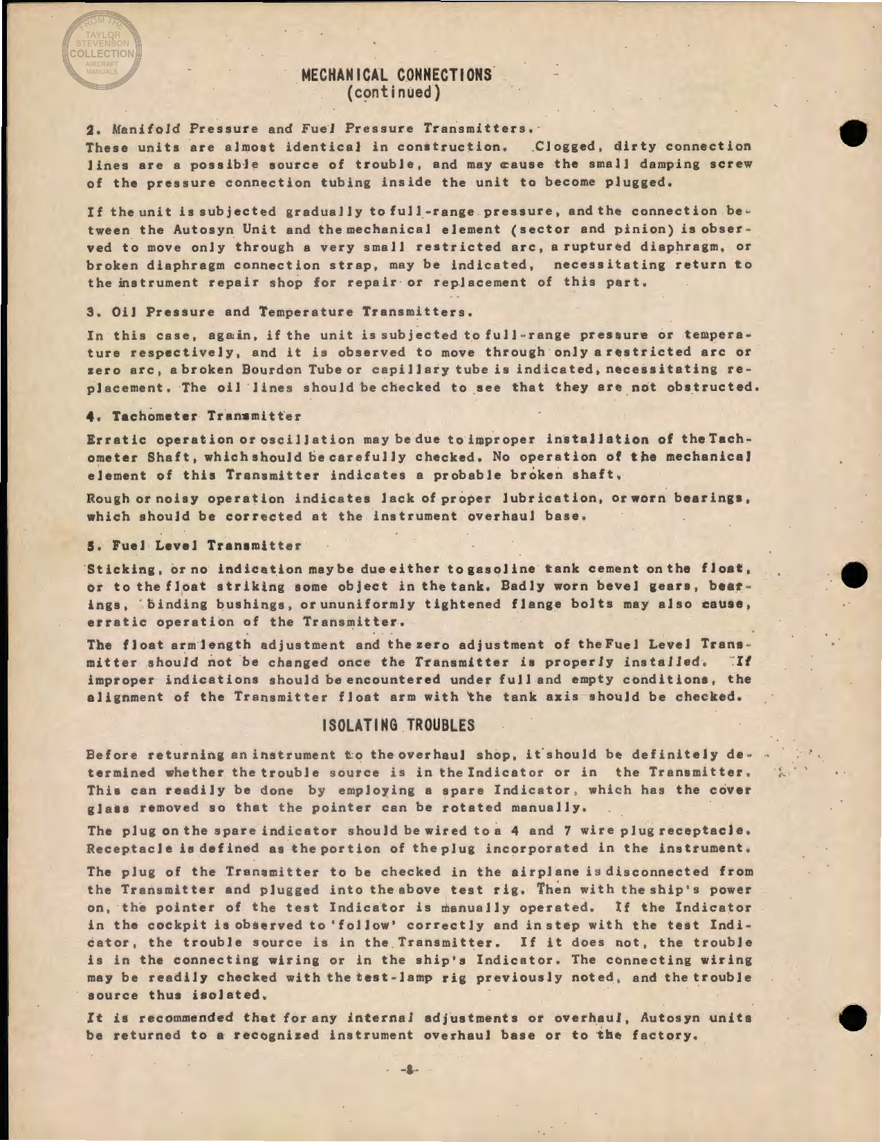 Sample page 8 from AirCorps Library document: Engine and Aeronautical Instruments for the B-17