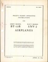 Pilot's Flight Operating Instructions for BT-13B and SNV-2 Airplanes