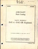 Parts Catalog for F4U-4 and F4U-4B Airplanes