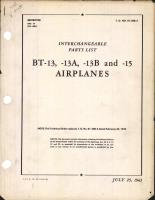 Interchangeable Parts Catalog for BT-13, BT-13A, BT-13B, and BT-15 Airplanes