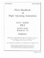 Pilot's Handbook of Flight Operating Instructions - FM-2