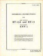 Overhaul Instruction for BT-13A and BT-15 and SNV-1