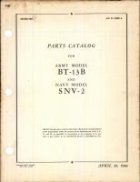 Parts Catalog for BT-13B and SNV-2
