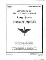 Service Instructions - Engine - R-985