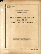 Structural Repair Instructions for BT-13A, BT-15 and SNV-1