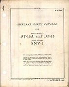 Airplane Parts Catalog for BT-13A, BT-15, and SNV-1