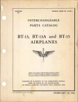 Interchangeable Parts Catalog for BT-13, BT-13A, and BT-15 Airplanes