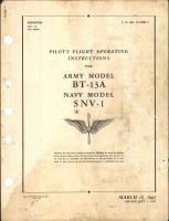 Pilot's Flight Operating Instructions for BT-13A and SNV-1