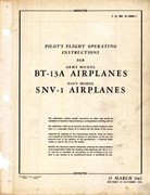 Pilot's Fight Operating Instructions for BT-13A and SNV-1
