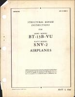 Structural Repair Instructions for BT-13B-VU and SNV-2 Airplanes