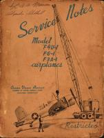 Service Notes for Model F4U-1, FG-1, and F3A-1 Airplanes