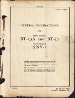 Service Instructions for BT-13A and BT-15