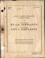 Pilot's Flight Operating Instructions for BT-13A and SNV-1 Airplanes